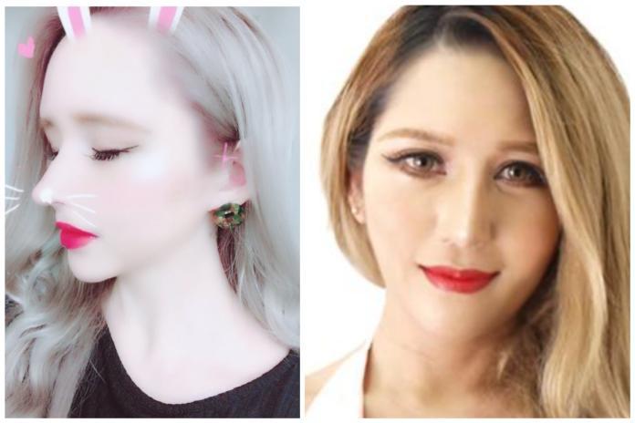 ▲外表看似混血兒,但這名女子真實身分是日本人。(合成圖/翻攝自田崎繪里香 IG 、部落格)