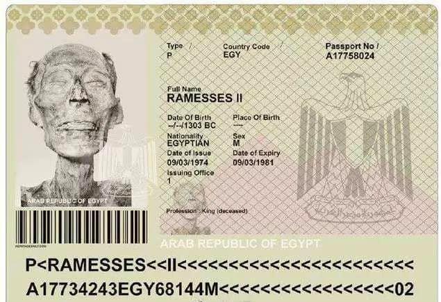 <br> ▲埃及法老王護照。(圖/翻攝自臉書)