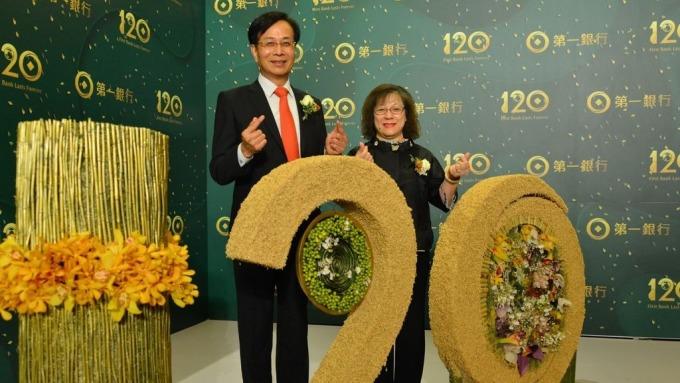 ▲ 第一銀行董事長廖燦昌(左)與銀行總經理鄭美玲(右)。(圖:一銀提供)