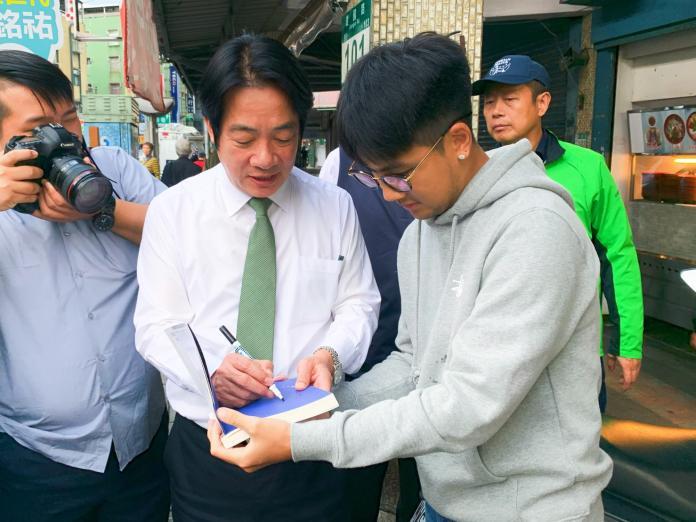 <br> ▲賴清德說韓選市長時是「奇特」的奇,現在選總統是「奇怪」的奇,因為兩場選舉判若兩人。(圖/記者宋原彰攝,2019.11.01)