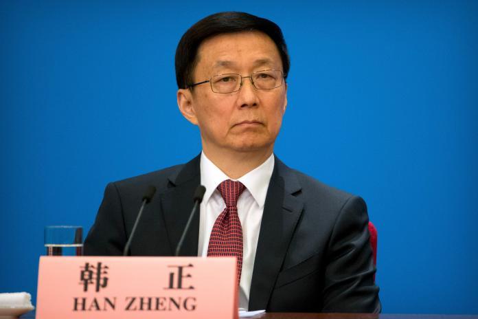 ▲中國國務院副總理韓正。資料照。(圖/美聯社/達志影像)