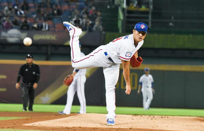 ▲世界棒球12強中華隊首戰面對波多黎各,先發投手江少慶