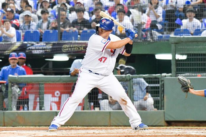 ▲世界棒球12強中華隊首戰面對波多黎各,捕手張進德。(