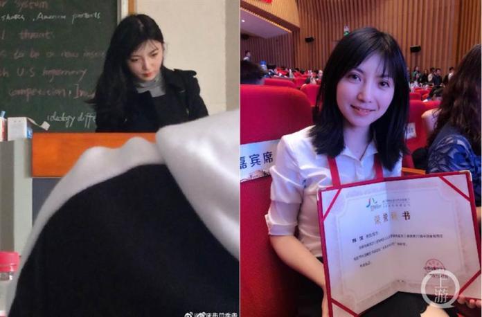 ▲鮮佳爆紅後,不少學生也出來稱讚她不僅人美,課程內容也相當豐富,(圖/翻攝鳳凰網)