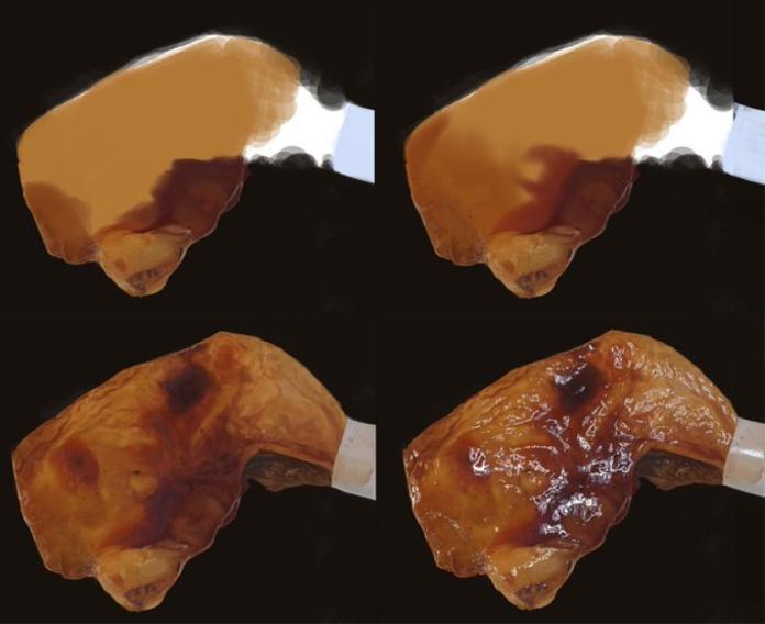 <br> ▲照燒雞腿的「製作過程」。(圖/翻攝自 @kisuke_izumo 推特)