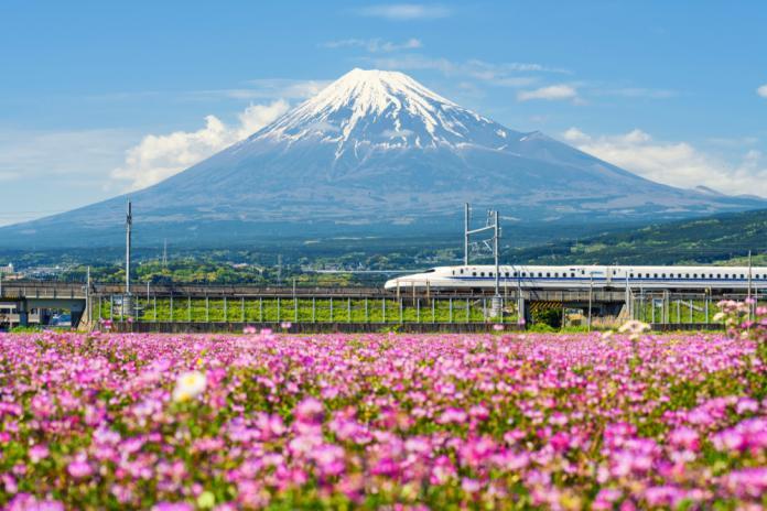 Japan train Fuji shutterstock_1450268258