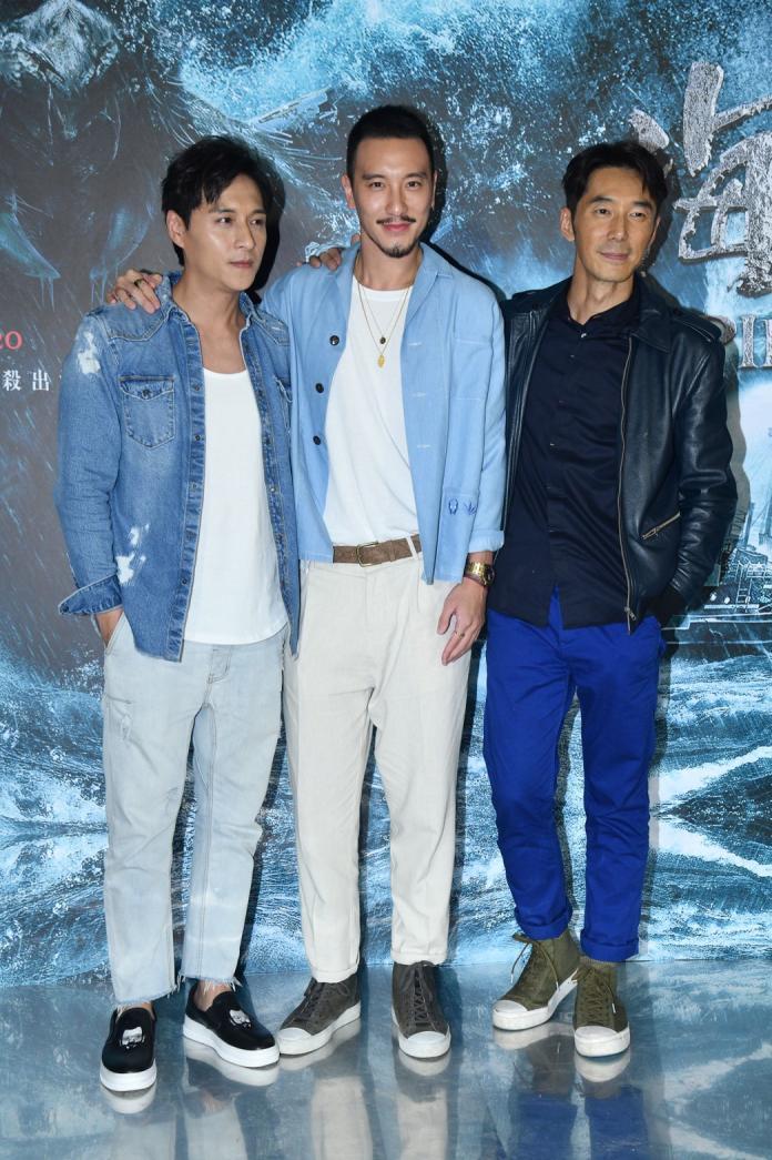 ▲(左起)鄭人碩、王陽明、李李仁在片中恩怨情仇不少。(圖/記者林柏年)