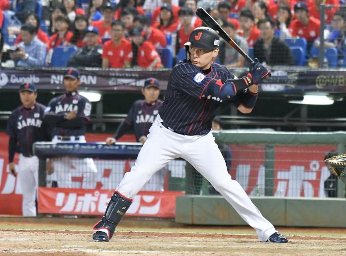 ▲世界棒球12強日本隊外野手丸佳浩。(圖/記者葉政勳攝