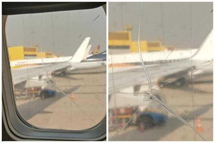 搭廉航驚見窗戶破裂!「貼透明膠帶」照常飛 乘客氣炸