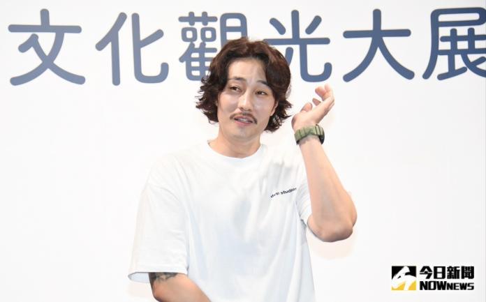 ▲蘇志燮來台出席「2019韓國文化觀光大展」開幕。(圖/記者林調遜攝)