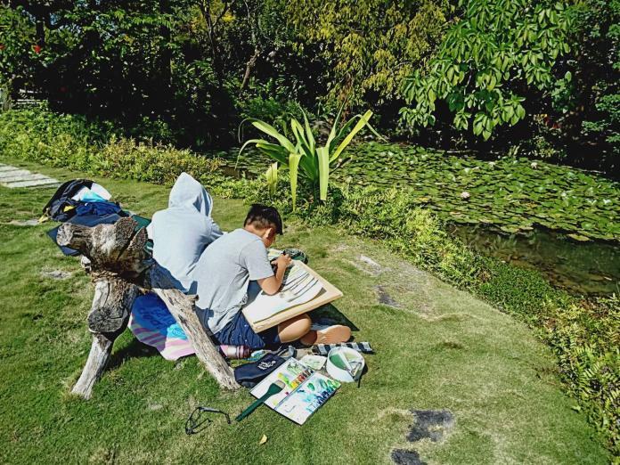 <br> ▲從小學習繪畫,對於事物的認知可以更有自主性。(圖/記者陳雅芳攝,2019.11.09)