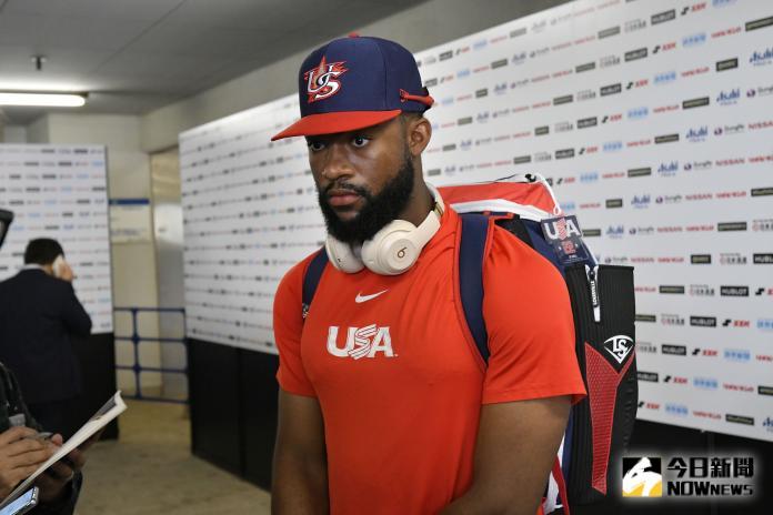 ▲世界棒球12強美國隊外野手Jordon Adell。(圖/記者葉政勳攝 , 2019.11.10)