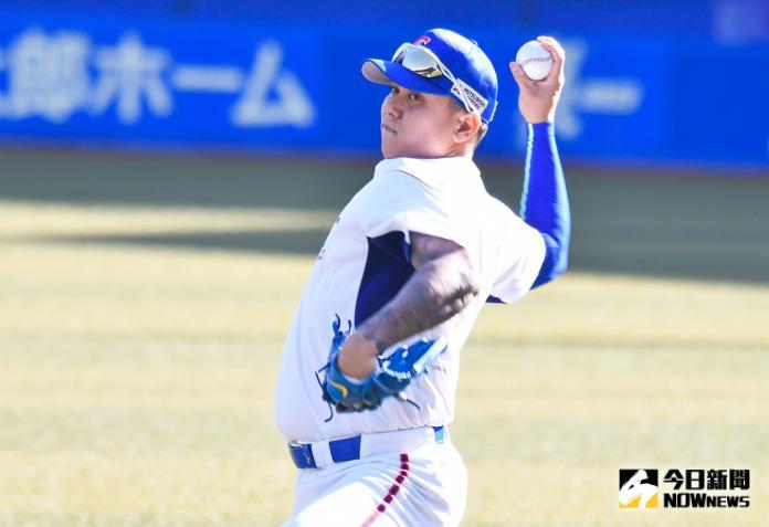 ▲世界棒球12強,中華隊投手陳鴻文。(圖/記者葉政勳攝