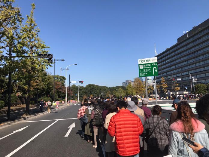 <br> ▲下午天氣非常好,許多民眾外出參與遊行。(圖/翻攝自 Twitter @tanny920 )