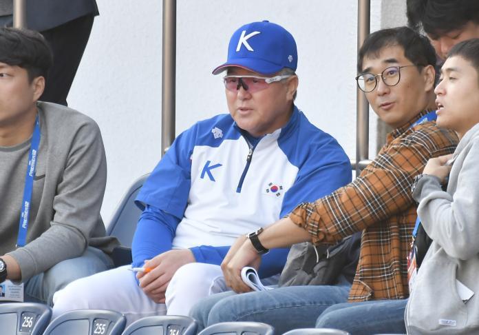 ▲韓國隊總教練金卿文(圖/記者葉政勳攝)