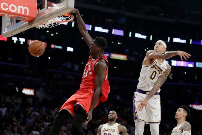 NBA/兩大主力缺陣沒問題 暴龍客場斬斷湖人7連勝