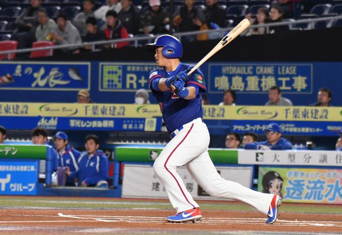 ▲世界棒球12強中華隊外野手胡金龍。(圖/記者葉政勳攝 )