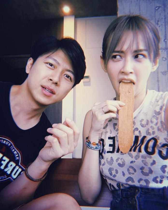 ▲袁艾菲與老公「老魚」交往2年,認識10年。(圖/取自臉書)