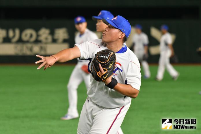 ▲世界棒球12強,中華隊捕手張進德。(圖/記者葉政勳攝
