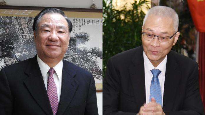 救國團主任葛永光與國民黨主席吳敦義。