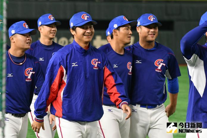 ▲世界棒球12強,中華隊vs.美國隊。中華隊賽前練習。(