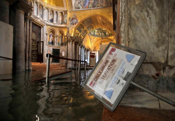 <br> ▲大水導致威尼斯內各博物館紛紛閉館。(圖/美聯社/達志影像)