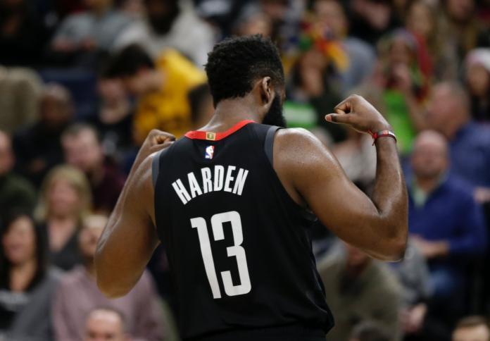 休士頓火箭MVP後衛James Harden。(圖/美聯社/達志影像)
