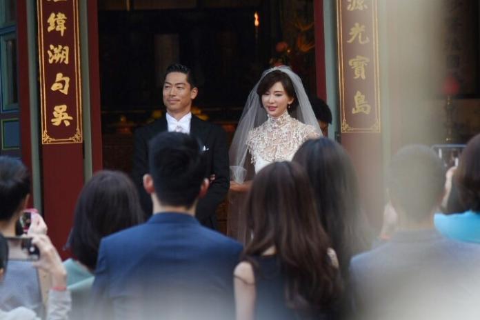 ▲林志玲和AKIRA舉行世紀婚禮。(圖/記者陳明安攝)