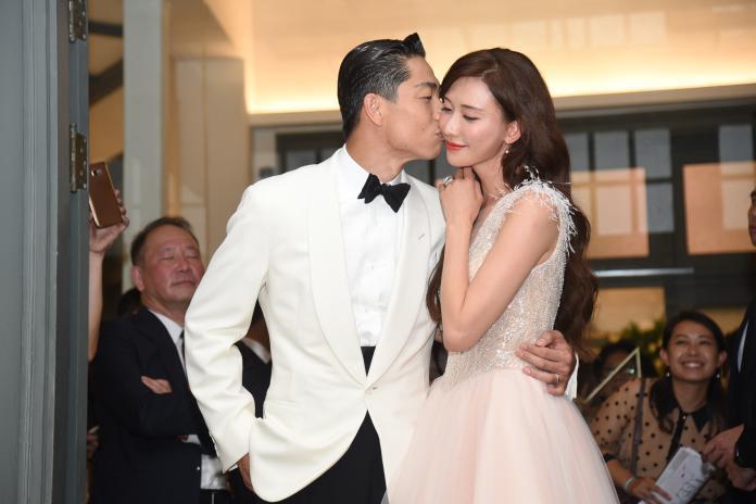 ▲林志玲和老公AKIRA超甜蜜。(圖/記者陳明安攝)