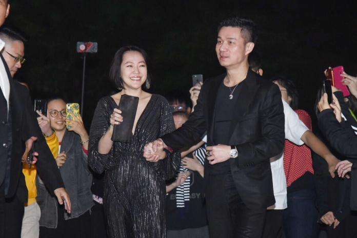 ▲小S偕老公許雅鈞出席林志玲與AKIRA婚宴。(圖/記者陳明安攝)