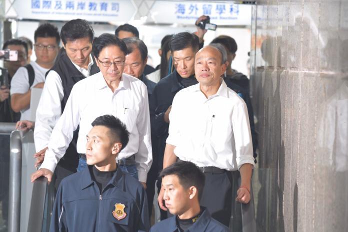 ▲在完成總統登記參選後,國安局特勤中心接手韓國瑜維安任務。(圖/記者林柏年攝, 2019.11.18)