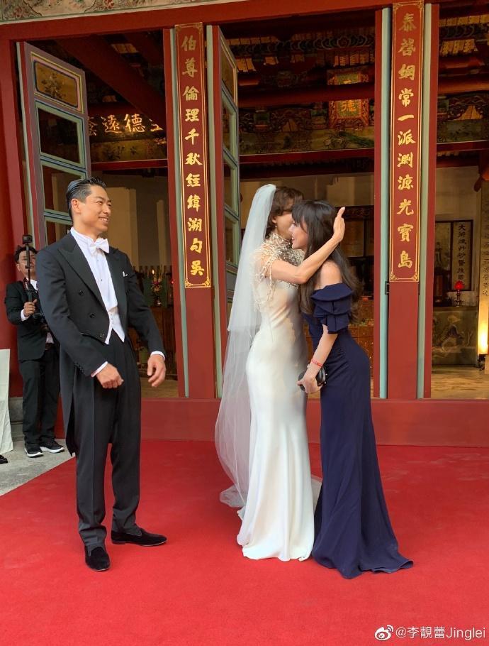 ▲李靚蕾受邀出席林志玲夫婦婚禮。(圖/微博)