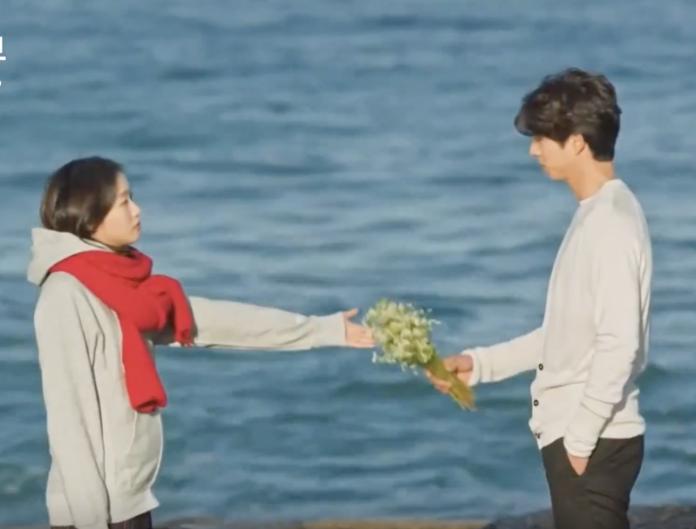 金高恩在韓劇《鬼怪》中向孔劉許願的經典場景也在注文津海邊 (翻攝自YouTube)