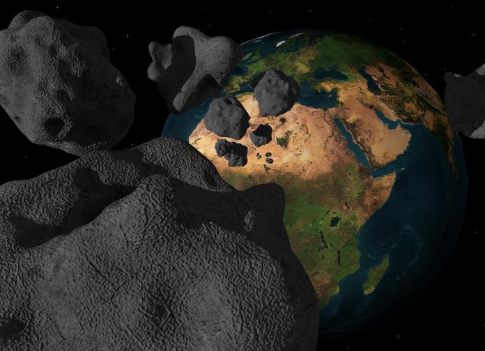 ▲科學家不斷探討生命的起源,最新發現隕石中蘊含生命必須物質,示意圖。(圖/ Pxhere )