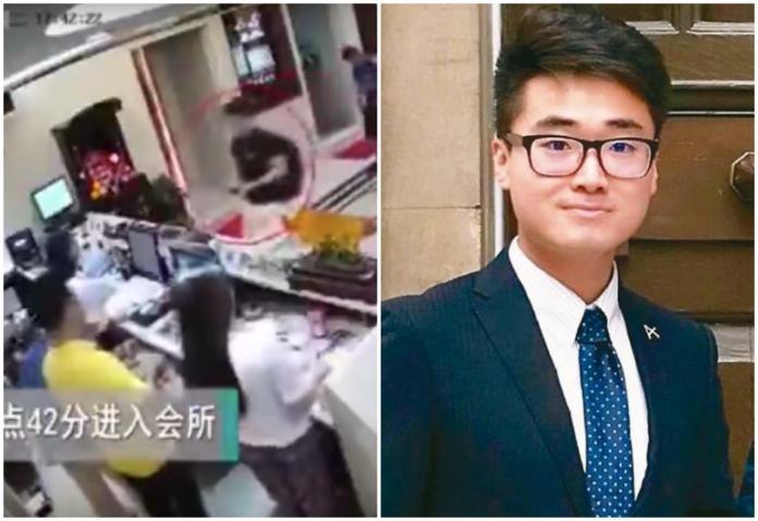▲中國大陸官媒公布鄭文傑嫖妓的監視器畫面。(圖/翻攝自影片/《法國廣播電台》/網路)