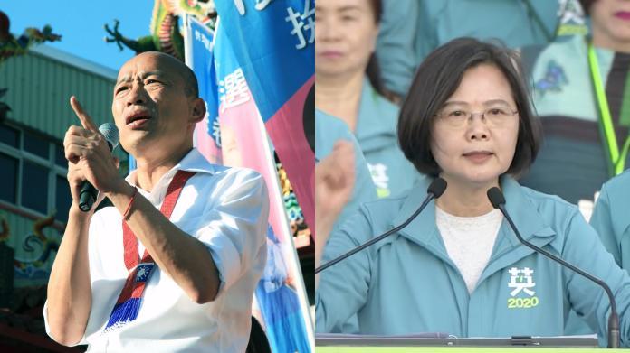 ▲高雄市長韓國瑜與總統蔡英文。(圖/NOWnews資料照片)