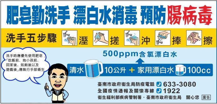 手部衛生為預防腸病毒感染首要預防方法