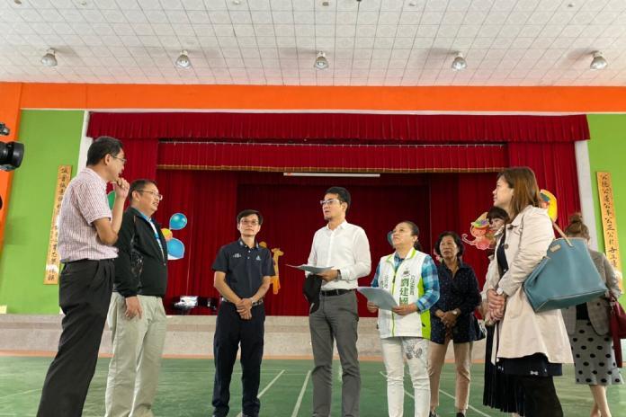 劉建國邀教育部會勘 爭取校園經費