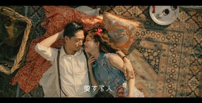 ▲▼林志玲夫妻檔拍MV。(影片截圖)
