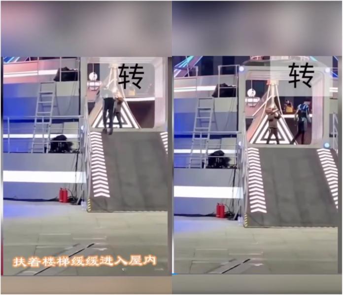 ▲大陸網友在微博瘋傳一段高以翔錄製節目《追我吧》畫面,宣稱是他的最後身影。(圖/翻攝自微博)