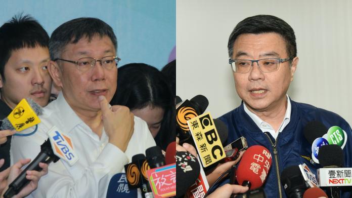 影/卓榮泰嗆「北高市長越來越像」 柯文哲:嫌票太多?
