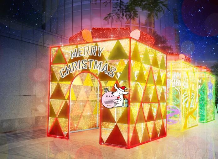 首座數位互動聖誕樹登場 台新金邀民眾12/6點燈傳遞幸福