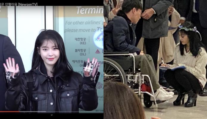 IU來台啦 見「坐輪椅粉絲」走上前簽名