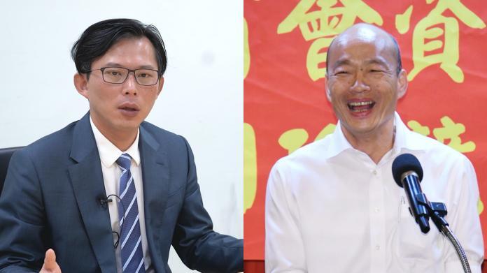 時代力量立委黃國昌與高雄市長韓國瑜。