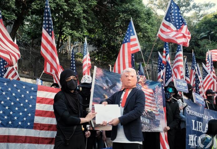 感恩的心!港人發起遊行  感謝川普力挺人權法案