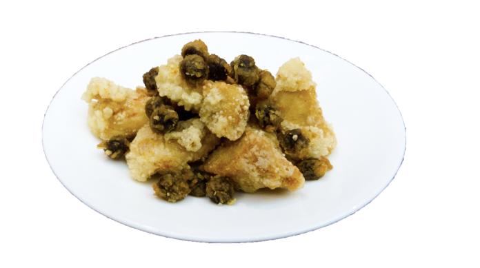珍珠也跟著鹹酥雞一同入油鍋酥炸,這道珍珠鹹酥雞絕對超乎想像。(圖翻攝自株式会社近鉄百貨店網站)