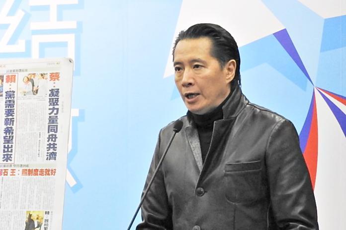 <br> 國民黨發言人歐陽龍。( 圖 /  記者陳弘志攝 )