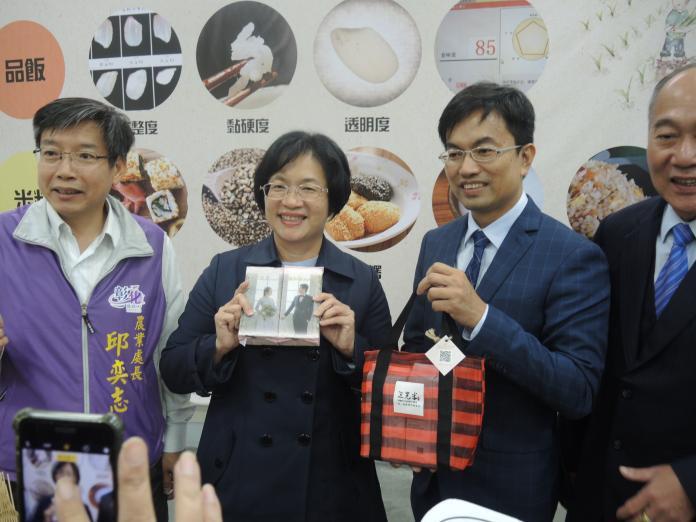 <br> ▲二水鄉三光米公司把米走向文創婚禮化。(圖/記者陳雅芳攝,2019.12.05)