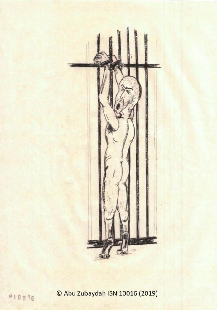 <br> ▲ CIA 將祖布達的雙手綑綁在欄杆上,逼他墊起腳尖,直到他雙手發白才解開手銬。(圖/翻攝自《商業內幕》)