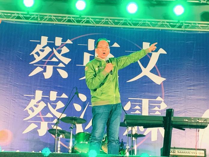 努力翻轉永和民進黨艱困選情 游錫堃:選票守護台灣民主